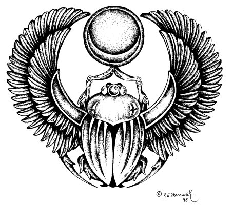 egyptian beetle Colouring Pages