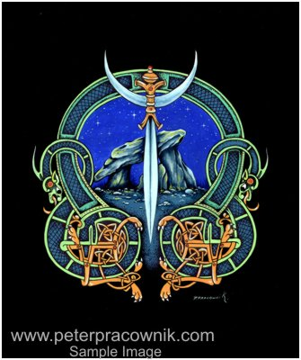 Celtic Art Knot Symbols Sword Artist Peter Pracownik