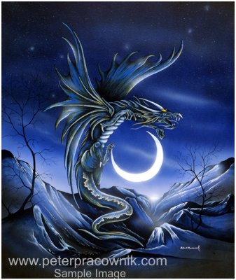 Dragon picture moon dragon ii artist peter pracownik - The moon dragon the eco tiny house ...