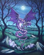 Amethyst Dragon, Dragons, Peter Pracownik Signed Framed Prints