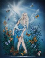 Butterfly, Fairy Oracle, Peter Pracownik Signed Framed Prints