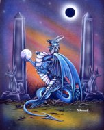 Anubis Dragon, dragon art, Peter Pracownik Signed Framed Prints