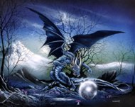 Dragon Of The Black Pearl, dragons art, Peter Pracownik Signed Framed Prints