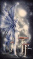 Bluebell Fairy, faeries, fantasy fairies, fairies prints, Peter Pracownik Signed Framed Prints
