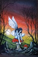 After A Long Flight, fairy, garden fairy, fairy paintings, Peter Pracownik Signed Framed Prints