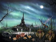 Paradise, fantasy art, fantasy drawings, fantasy graphics, Peter Pracownik Signed Framed Prints