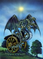 Adversity  Dragon, fantasy dragons, Peter Pracownik Signed Framed Prints