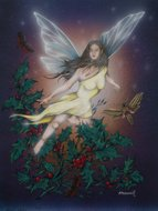 Holly, Fairy Oracle, Peter Pracownik Signed Framed Prints
