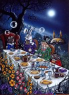 Mad Hatters Tea Party, Mad Hatter, Peter Pracownik Signed Framed Prints