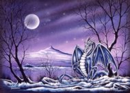 Ice Dragon, myth dragons, Peter Pracownik Signed Framed Prints