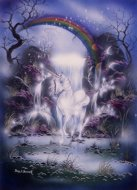 Dreamtime Unicorn, unicorn pictures, Peter Pracownik Signed Framed Prints